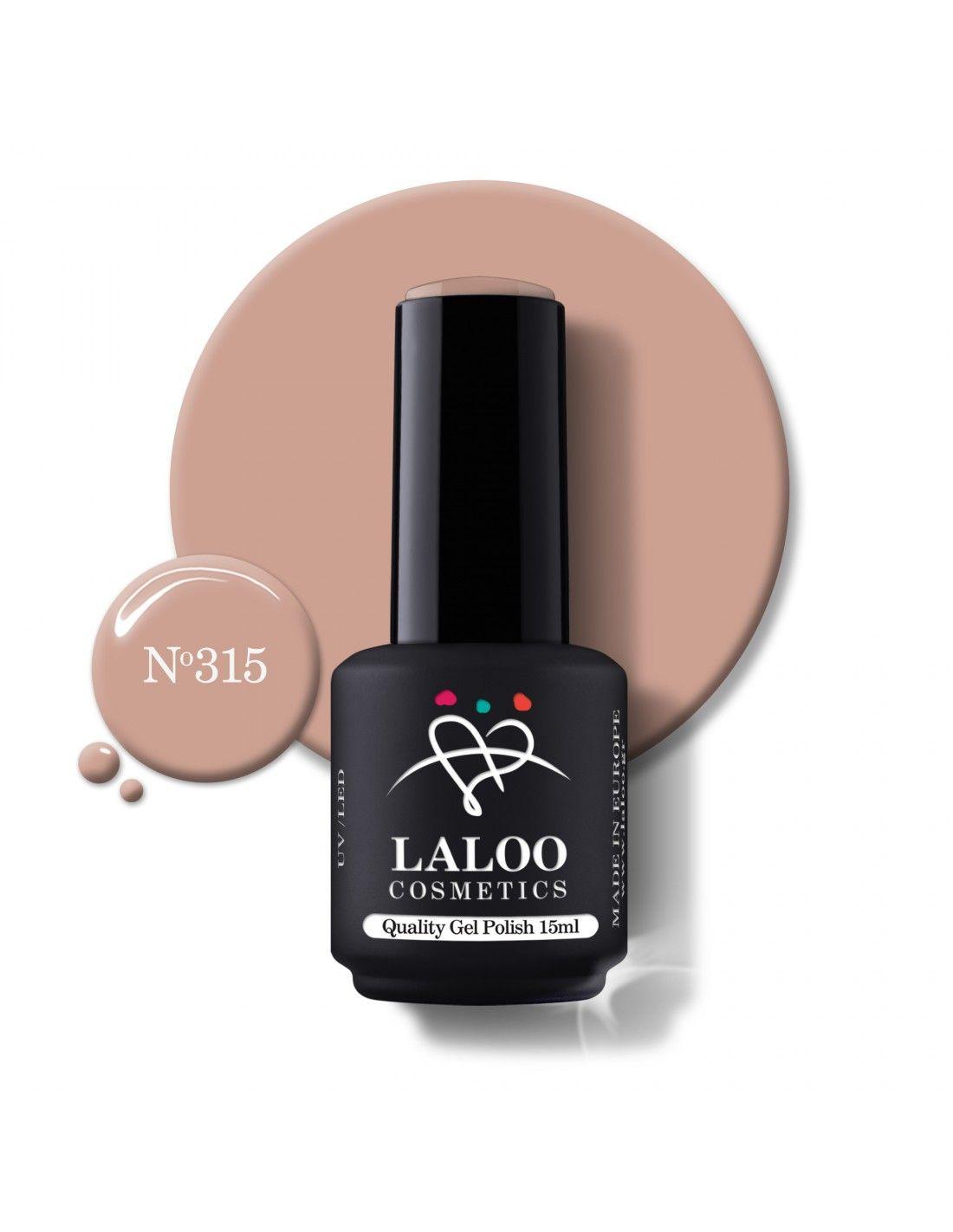 297 Nude Μπεζ-Ροζ   Ημιμόνιμο βερνίκι 15ml   Laloo Cosmetics