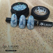 """Rainbow glass powder"" no2!!! 💙🌈 Get it now!! Laloo.gr . By @kostadina_tsihlas . #nailporn #nailart #nailpolish #laloo_team #laloonails #laloocosmetics  #summer2020"