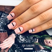 An amazing set by @georgia_taxiarhi !!  Laloo no. 134 💟 and Laloo contour panther black 🖤  . #laloonails #laloocosmetics #laloomania #laloo #nailart #nailstyle #nailartist #nailsofinstagram