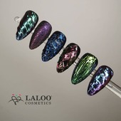 Brand new Chameleon powders and @kostadina_tsihlas gave her all! 💎 . Check them out at www.laloo.gr  . #laloonails #laloo #laloocosmetics #nailart #nailstyle #instanails