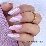 Pastel nails 🦄 Yey!  Girly, παστέλ χρώματα και υπέροχη διάθεση από την @kiki.z.nails!  #laloocosmetics #laloonails