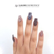 Bandana nails in earthy tones 🍁  #laloocosmetics #laloonails