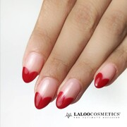Retro Mode: ΟΝ  Heart tip nails @hamsa_beauty_salon ❤️   Χρησιμοποιήσαμε: το Ν.149 και την Graphen Base Cover  #laloonails #laloocosmetics