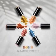 Autumn #boho nails 🍂🍁  👉 Νο.416 Cinnamon, Νο.417 Mustard Yellow, Νο.261 Stone Blue, Νο.457 Brown Dusty Rose, Νο.076 Purple Nude  #laloocosmetics #laloonails #autumnnails