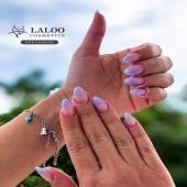 Η πρόταση της ημέρας, ένα εναλλακτικό ombre από τη μοναδική @agapi_sidiropoulou !!  . Laloo no.161💜 . #laloo_team #laloonails #laloo #nailporn #nailart #nailpolish #nail #naildesign #nails💅