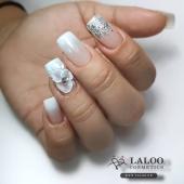 Wedding inspo for today!! 👰 . @evis_nails with Laloo no.235, no.01 and Laloo white plasteline..!!  . #nailart #nailporn #laloo_team #laloonails #laloo #laloocosmetics